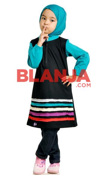 Baju muslim lebaran anak perempuan